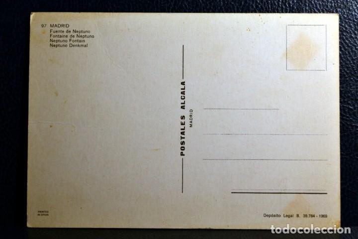 Postales: FUENTE DE NEPTUNO - MADRID 97 - POSTALES ALCALA - 1969 - Foto 2 - 174328954