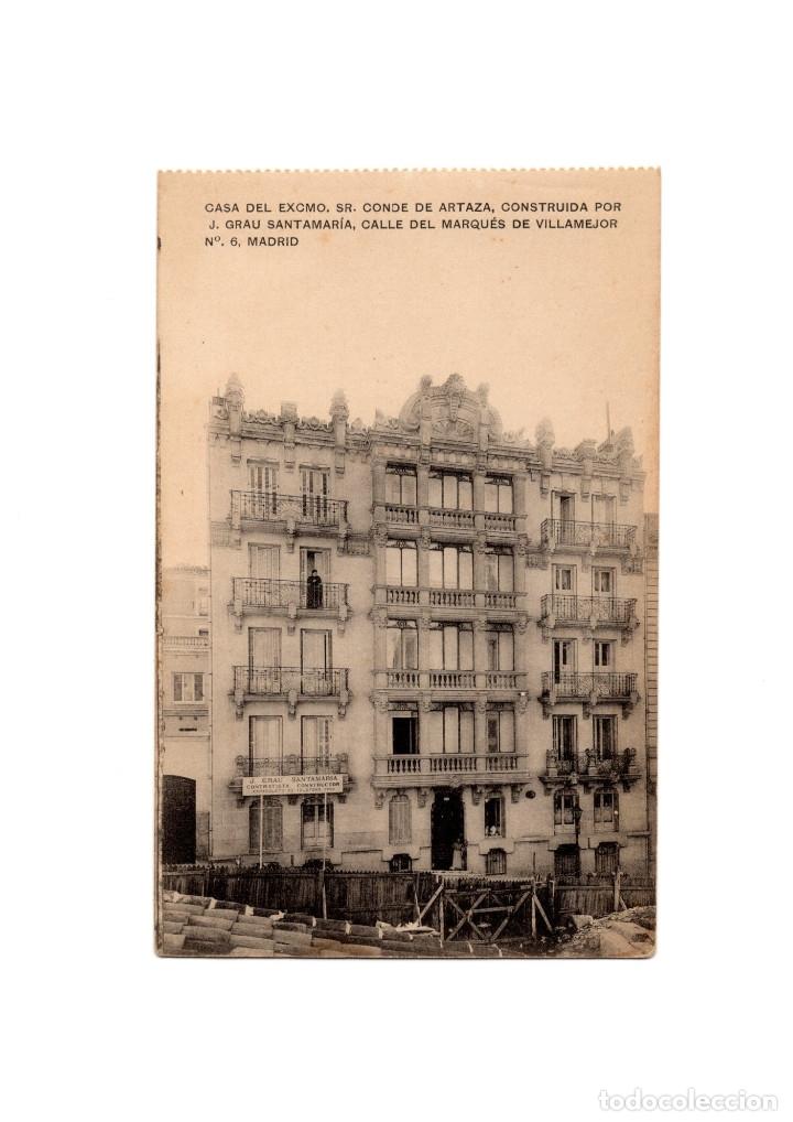 MADRID.- CASA DEL CONDE DE ARTAZA CONSTRUIDA POR J. GRAU. CALLE DEL MARQUES DE VILLAMEJOR. (Postales - España - Comunidad de Madrid Antigua (hasta 1939))