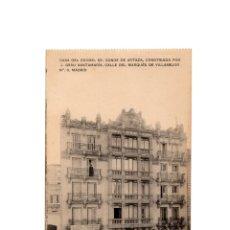 Postales: MADRID.- CASA DEL CONDE DE ARTAZA CONSTRUIDA POR J. GRAU. CALLE DEL MARQUES DE VILLAMEJOR. . Lote 174569164