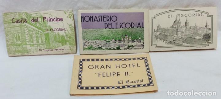 LOTE ANTIGUOS ALBUMES TARJETAS POSTALES EL ESCORIAL,COMPLETOS.SIN ESCRIBIR.70 POSTALES.VER . (Postales - España - Comunidad de Madrid Antigua (hasta 1939))