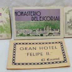Postales: LOTE ANTIGUOS ALBUMES TARJETAS POSTALES EL ESCORIAL,COMPLETOS.SIN ESCRIBIR.70 POSTALES.VER .. Lote 174647069
