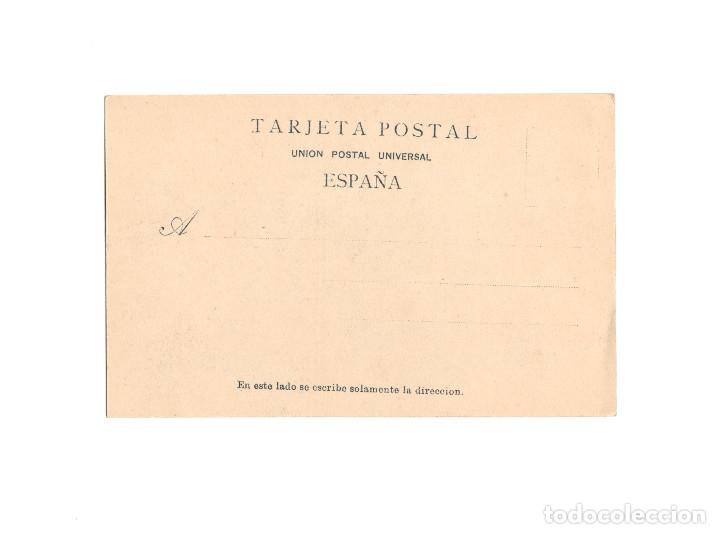 Postales: EL ESCORIAL.- PARANINFO DEL COLEGIO DE D. ALFONSO XII. PUBLICIDAD. MATIAS LOPEZ CHOCOLATES Y DULCES. - Foto 2 - 175063578