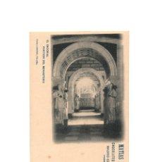 Postales: EL ESCORIAL.- PANTEÓN DEL MONASTERIO. PUBLICIDAD. MATIAS LOPEZ CHOCOLATES Y DULCES.. Lote 175064338