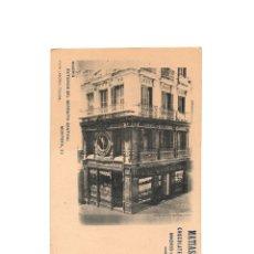 Postales: MADRID.- EXTERIOR DEL DEPÓSITO CENTRAL. PUBLICIDAD. MATIAS LOPEZ CHOCOLATES Y DULCES. EL ESCORIAL. Lote 175064825