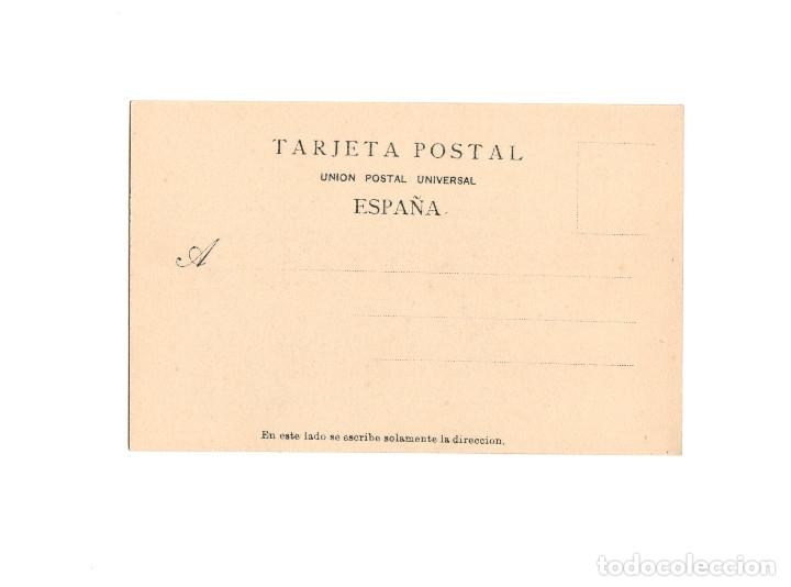 Postales: EL ESCORIAL.- SEGUNDO GRUPO DE OBREROS. PUBLICIDAD. MATIAS LOPEZ CHOCOLATES Y DULCES. - Foto 2 - 175067475