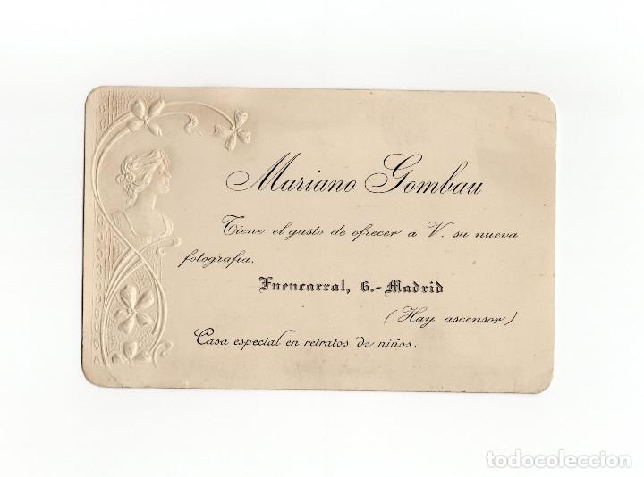 MADRID.- POSTAL PUBLICITARIA DE FOTOGRAFÍA. FUENCARRA Nº 6. MARIANO GOMBAU. TROQUELADA. (Postales - España - Comunidad de Madrid Antigua (hasta 1939))