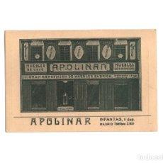 Postales: MADRID.- CASA DE MUEBLES APOLINAR. CALLE INFANTAS Nº 1.. Lote 175074007