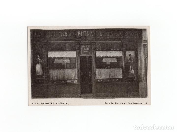 MADRID.- VIENA REPOSTERÍA. PORTADA. CARRERA DE SAN JERÓNIMO 16. (Postales - España - Comunidad de Madrid Antigua (hasta 1939))