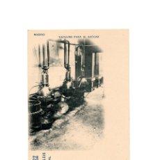 Postales: MADRID.- VACUUMS PARA EL AZÚCAR. PUBLICIDAD. MATIAS LOPEZ CHOCOLATES Y DULCES. EL ESCORIAL. Lote 175291293