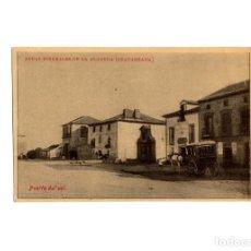 Postales: GUADARRAMA.(MADRID).- BALNEARIO Y HOTEL DE LAS AGUAS MINERALES LA ALAMEDA. PUERTA DEL SOL.DILIGENCIA. Lote 175338122