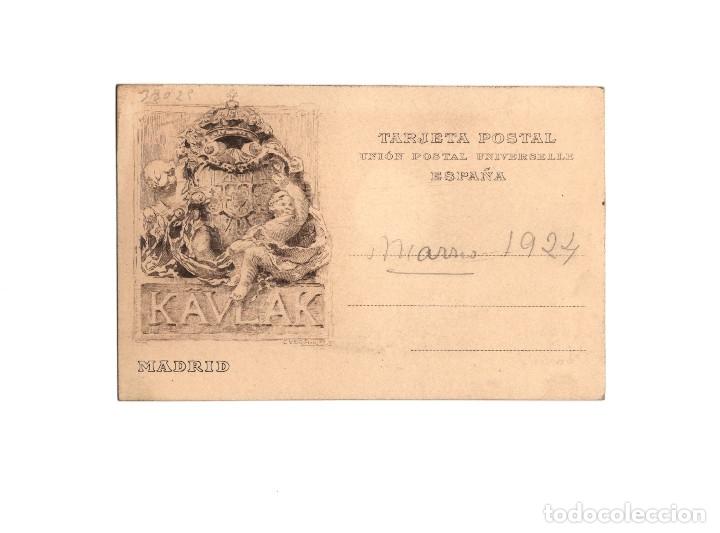 MADRID.- FOTÓGRAFO KAULAK. POSTAL FOTOGRÁFICA. (Postales - España - Comunidad de Madrid Antigua (hasta 1939))