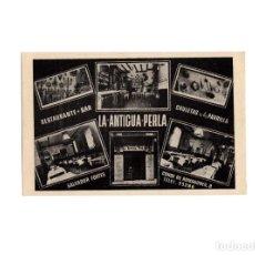 Postales: MADRID.- BAR RESTAURANTE LA ANTIGUA PERLA. SALVADOR FORTES. CONDE DE ROMANONES 8.. Lote 175340837