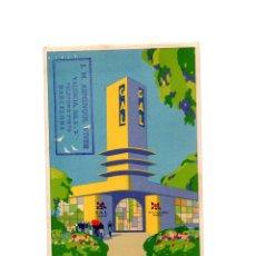 Postales: PABELLÓN DE LA PERFUMERÍA GAL EN LA EXPOSICIÓN DE BARCELONA. RIBAS.. Lote 175361692
