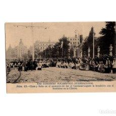 Postales: MADRID.- XXII CONGRESO EUCARISTICO INTERNACIONAL. CLERO Y FIELES. CIBELES.. Lote 175402194