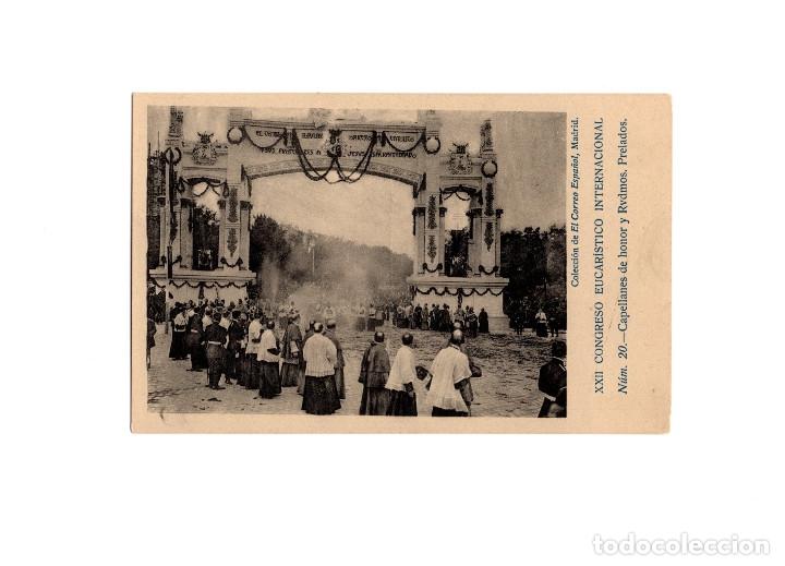 MADRID.- XXII CONGRESO EUCARISTICO INTERNACIONAL. CAPELLANES DE HONOR Y RVDMOS. PRELADOS. (Postales - España - Comunidad de Madrid Antigua (hasta 1939))