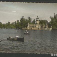 Postales: MADRID-PARQUE DEL RETIRO-ESTANQUE-ED·GARCIA GARRABELLA-VER REVERSO-(61.970). Lote 175537580