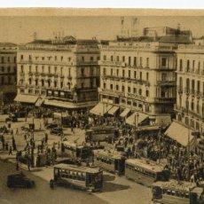 Postales: POSTAL DE MADRID (PUERTA DEL SOL) 1948 CIRCULADA. Lote 175544017