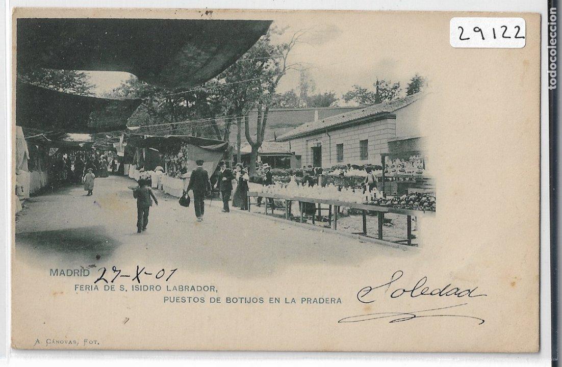 MADRID - FERIA DE SAN ISIDRO LABRADOR - PUESTO DE BOTIJOS EN LA PRADERA - A. CÁNOVAS - P29122 (Postales - España - Comunidad de Madrid Antigua (hasta 1939))