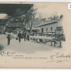 Postales: MADRID - FERIA DE SAN ISIDRO LABRADOR - PUESTO DE BOTIJOS EN LA PRADERA - A. CÁNOVAS - P29122. Lote 175729788