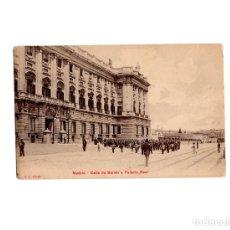 Postales: MADRID.- CALLE BAILÉN Y PALACIO REAL.. Lote 175750380