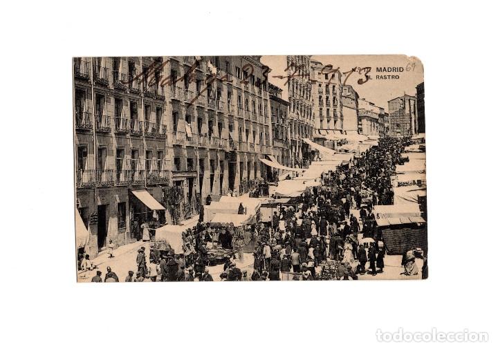 MADRID.- EL RASTRO. (Postales - España - Comunidad de Madrid Antigua (hasta 1939))