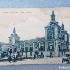 Postales: MADRID PLAZA DE LA VILLA Y AYUNTAMIENTO POSTAL EDITOR GOODRICH. Lote 176078644