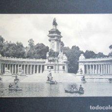 Postales: POSTAL MADRID. RETIRO. MONUMENTO ALFONSO XII. HAUSER Y MENET. DIPUTACIÓN PROVINCIAL MADRID. . Lote 176095505