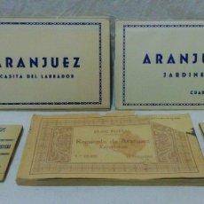 Postales: LOTES BLOCS POSTAL ARANJUEZ.LOS 2 PEQUEÑOS DE OBSEQUIO.VER DESCRIPCIÓN.. Lote 176146884