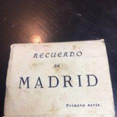 Postales: RECUERDO FOTO POSTALES MADRID - PRIMERA SERIE. Lote 176240610