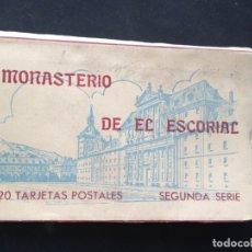 Postales: BLOCK ACORDEON MONASTERIO DE EL ESCORIAL. 20 TARJETAS POSTALES. SEGUNDA SERIE. HAUSER Y MENET. Lote 176298503