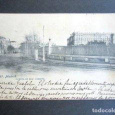 Postales: POSTAL MADRID. CUESTA DE SAN VICENTE. PRIMERA EDICIÓN. CIRCULADA. AÑO 1906. A FRANCIA, BIARRITZ. . Lote 176820218