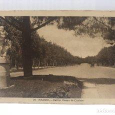 Postales: EL RETIRO MADRID ANTIGUO PASEO DE COCHES ANTIGUA POSTAL PASEO DEL RETIRO COCHES 1900 . Lote 176873548