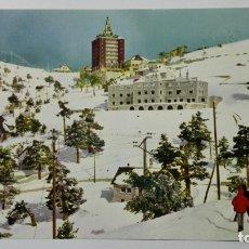 Postales: POSTAL PUERTO DE NAVACERRADA, VISTA PARCIAL Y RESIDENCIA JOSE ANTONIO, MADRID. Lote 177119085