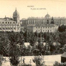 Cartoline: MADRID – PLAZA DE ESPAÑA – HAUSER Y MENET. Lote 177280892