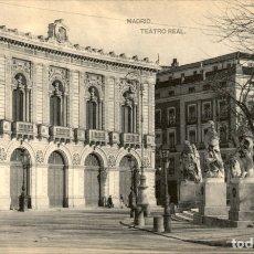 Cartoline: MADRID – TEATRO REAL – HAUSER Y MENET. Lote 177280990
