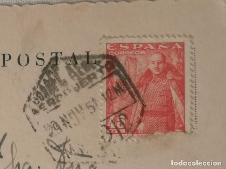 Postales: POSTAL DE MADRID.PUERTA DE ENTRADA AL PALACIO DE EXPOSICIONES DEL RETIRO.AÑO 1951. - Foto 3 - 177828729