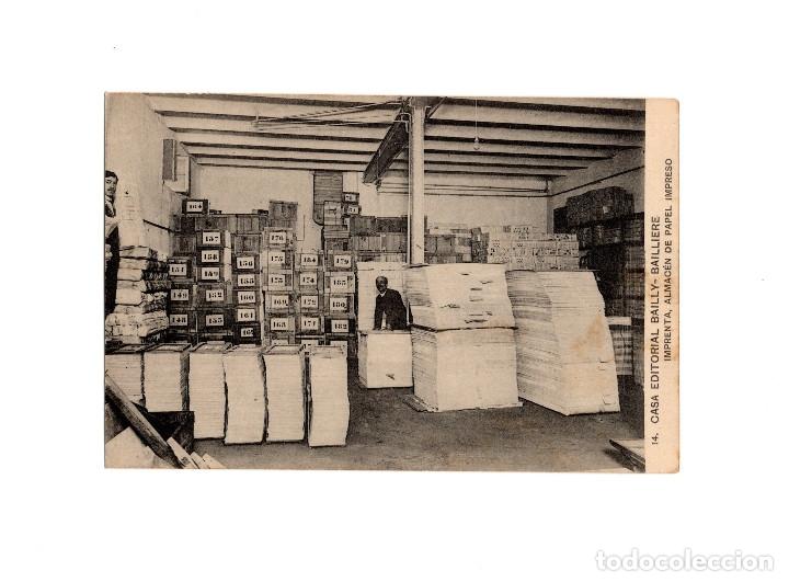 MADRID.- CASA EDITORIAL BAILLY - BALLIERE.- IMPRENTA. ALMACEN DE PAPEL IMPRESO. (Postales - España - Comunidad de Madrid Antigua (hasta 1939))