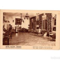 Postales: MADRID.- HOTEL CALERO.- GRAN VIA ENTRADA HORTALEZA. SALÓN DE FIESTAS Y BANQUETES.. Lote 177944758