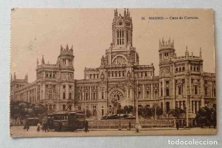 POSTAL DE LA CASA DE CORREOS (MADRID).AÑO 1942. (Postales - España - Madrid Moderna (desde 1940))