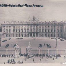 Postales: POSTAL MADRID - PALACIO REAL - PLAZA ARMERIA - 12 RAPIDO. Lote 178153842