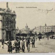 Postales: 18. MADRID. CALLE DE ALCALÁ. CIRCULADA EN 1914. . Lote 178756468