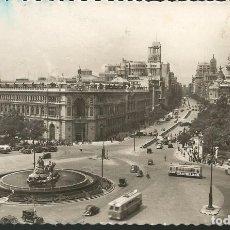 Postales: POSTAL MADRID - PLAZA CIBELES Y CALLE DE ALCALÁ - G. GARRABELLA 1954. Lote 178813043