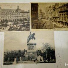 Postales: LOTE DE 3 POSTALES ANTIGUAS DE MADRID - AÑOS 20S A 40S - CIRCULADAS. Lote 178900603