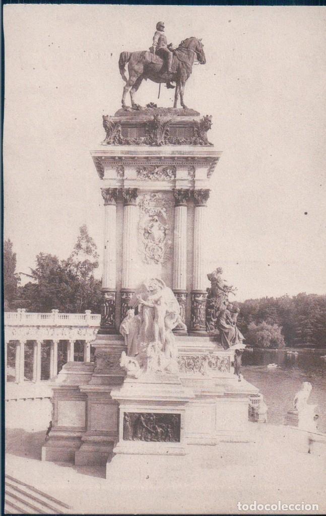 POSTAL MADRID - PARQUE DEL RETIRO - MONUMENTO ALFONSO XII - LA LIBERTAD - 173 GRAFOS (Postales - España - Comunidad de Madrid Antigua (hasta 1939))