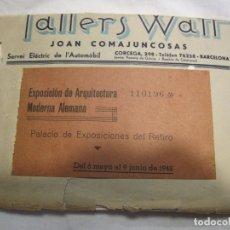 Postales: CONJUNTO DE 9 POSTALES EXPOSICIÓN ARQUITECTURA MODERNA ALEMANA, 1942. EN SOBRE DE TALLERS WATT. Lote 179083692