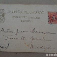 Postales: UNIÓN POSTAL UNIVERSAL. ESPAÑA. ESTAFETA DEL CONGRESO. IMAGEN CALLE DE BORNOS. Lote 179238170
