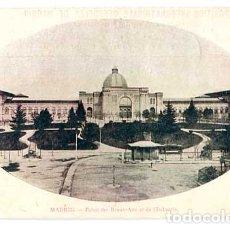 Postales: MADRID PALAIS DES BEAUX-ARTS ET DE L'INDUSTRIE. ED. EXPOSITION INTERNATIONAL DE MADRID. CIRCULADA. Lote 179329440