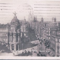 Postales: POSTAL FOTOGRAFICA DE MADRID - GRAN VIA. Lote 179329487