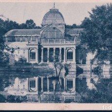 Postales: POSTAL PARQUE DE MADRID - RETIRO - PALACIO DE CRISTAL - UN PASEO POR MADRID - SERIE III 42 - ESCRITA. Lote 179390945