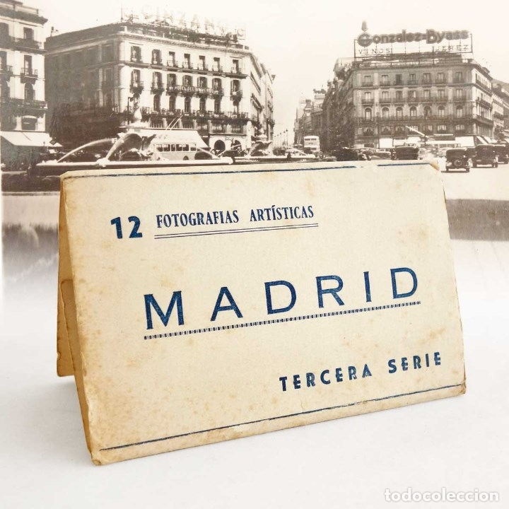 MADRID MINI CARPETILLA 8 FOTOS. 10X6CM (Postales - España - Comunidad de Madrid Antigua (hasta 1939))